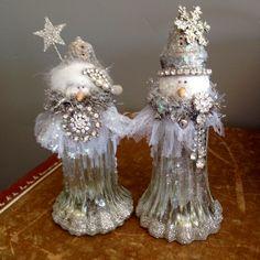 Christmas Craft Fair, Diy Christmas Ornaments, Christmas Angels, Christmas Snowman, Christmas Projects, Handmade Christmas, Snowman Decorations, Snowman Crafts, Holiday Crafts