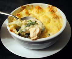 Chicken Spinach & Cauliflower Cheese Pots #glutenfree