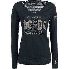 AC/DC Camisa Manga Larga »Danger! - High Voltage«   Cómpralos en EMP   Más Merchan Bnd Mangas Largas disponibles online