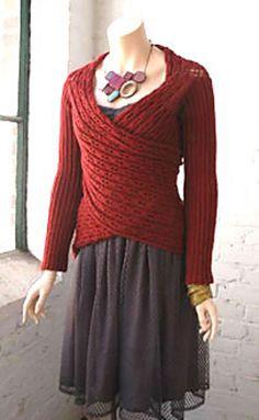 "Wrap cardigan pattern - knit knit-things ""Ravelry: Juliana pattern by Berroco Design Team (FREE)"", ""Juliana wrap cardigan pattern from Berroco. Loom Knitting, Knitting Patterns Free, Knit Patterns, Free Knitting, Free Pattern, Knitting Needles, Start Knitting, Vogue Knitting, Knitting Machine"