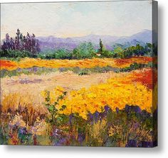 Provencal Sunshine Acrylic Print By Marion Hedger