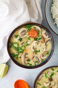 This Vegan Tom Kha (Thai Coconut Soup) recipe is inspired by my favorite Thai dish - a creamy coconut soup infused with sweet and sour flavors.