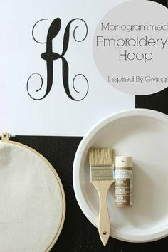Monogram Embroidery Hoop Tutorial