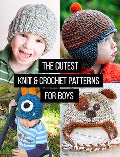 the best knit and crochet hat patterns for boys