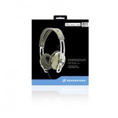 SENNHEISER Momentum On-Ear Green - Słuchawki Nauszne  SEN0013ESM Zestaw zawiera: słuchawki Momentum On Ear etui transportowe przewód z pilotem standardowy przewód audio instrukcję obsługi Okres gwarancji: 24m is a very good sounding on-ear headphone that has a eye-catching modern retro design, is well-built,