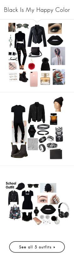 """""""Black Is My Happy Color"""" by emely12sanchez ❤ liked on Polyvore featuring Tiffany & Co., Simon Frank, Boohoo, L.K.Bennett, Jack Wills, Chicwish, M. Miller, Givenchy, Ray-Ban and Timberland"""