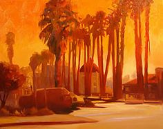 Oil Paintings Landscapes: Casino Dawn