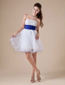 Modern White Sweetheart Neckline Tulle A-line Womens Homecoming Dress - us$88.99