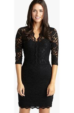 Free shipping and returns on Tadashi Shoji Embroidered Lace Sheath Dress at Nordstrom.com. An embroidered lace veil wraps this timeless cocktail dress that alluringly reveals skin with illusion panels through the yoke, sleeves and hem.