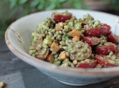 Salada de cevadinha com pesto | Portal Namu