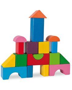 Bausteine MOSAIK 19-teilig aus Holz Wooden Building Blocks, Wooden Blocks, Toddler Learning Activities, Montessori Activities, Jenga Blocks, Autumn Leaves Craft, Playground Games, Preschool Prep, Block Play