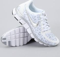 Leopard Nike shoes. Would be better with a splash of pink.