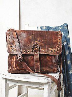 I like the simple rustic feel to this messenger bag Brown Leather Purses 8d85a5c70c550
