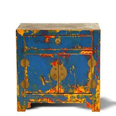What we would envision Picasso's side tables to look like.) Each of the cabinets has been carefully lacqured in a drip finish. No two are alike and they are about as unique as they come! Antique Chinese Furniture, Bedside Cabinet, Side Tables, Cabinets, Decorative Boxes, Collections, China, Antiques, Artist