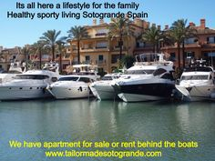 Buy an apartment or house on the water in Sotogrande marina Spain. Also berths for sale .