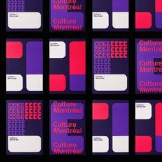 Culture Montréal Identity and Branding - via Mindsparkle Mag - Brand Development Graphic Design Branding, Graphic Design Posters, Corporate Design, Corporate Identity, Brand Identity Design, Brochure Design, Graphic Design Inspiration, Visual Identity, Logo Design