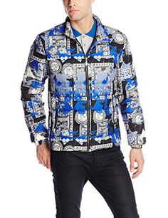 Versace Jeans Men's Nylon Printed Puffer Jacket, Black, X-Large Versace Jeans http://www.amazon.com/dp/B00MRT7ZYG/ref=cm_sw_r_pi_dp_ofOnub04VHM8R