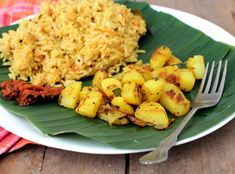 Simple potato fry, a South Indian style recipe that goes well with rice and rasam or sambar. pinned with Pinvolve - pinvolve.co