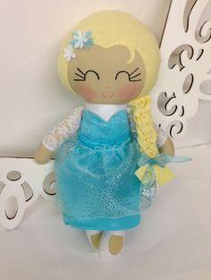 Frozen Elsa Handmade Doll MADE TO ORDER Fabric by SewManyPretties, $59.00 #frozen #frozenparty #elsa