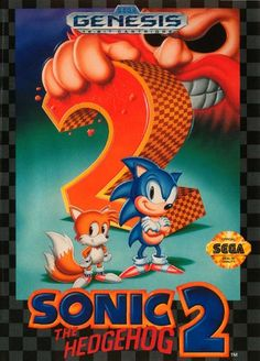 "Sonic the Hedgehog 2 - Sega Genesis. This was MY GAME when I was younger. I now play it on GameCube and still pretty much have it memorized. Send us a message if you want to pin on our ""Favorite Old Video Games"" board and wel'l add you! Sega Mega Drive, Mega Drive Games, Sonic The Hedgehog, Hedgehog Game, Game Boy, Classic Video Games, Retro Video Games, Retro Games, Nintendo"