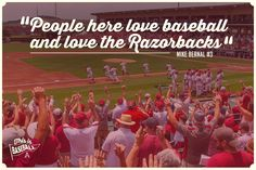 Arkansas Razorback Baseball quote graphic