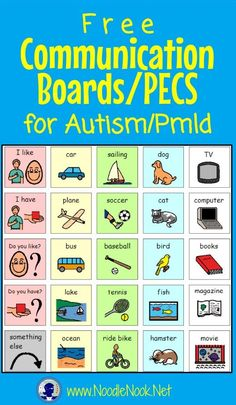 CommBoards from NoodleNook for students with Autism or Nonverbal students. I use these with the non-verbal and more significant autism students I work with as part of their visual schedules. Autism Activities, Autism Resources, Speech Therapy Activities, Language Activities, Sorting Activities, Aba Therapy For Autism, Shape Activities, Speech Language Pathology, Speech And Language