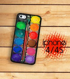 Iphone 4/4S Hard Case Water Color Paint Box