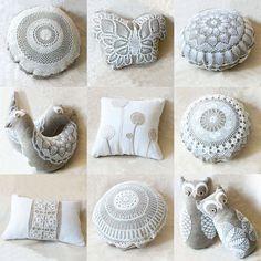 vintage lace cushions