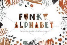 Set of creative funky alphabet by Good_Studio on @creativemarket