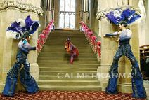 Human painted statues and stilts in MANCHESTER AND CHESHIRE perfect for corporate events, parties and weddings www.calmerkarma.co.uk Tel:  0203 602 9540