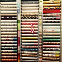The Great Wall of GIFT WRAPPING PAPER. On display at Reed Gift Fairs Retail Quarter Melbourne. Beautiful premium gift wrapping paper available for business to business only.