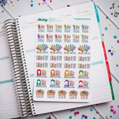 Planners Gonna Plan #PlannersGonnaPlan Planner Stickers by Lillie Henry! Set of 37 stickers featuring hand drawn artwork by Lillie Henry!