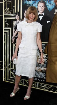 Anna Wintour in Chanel at premiere of The Great Gatsby World Premiere - 1 May 2013