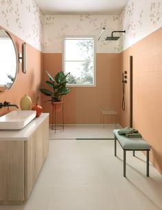 MODERNÉ KÚPEĽNE - Trendové obklady do kúpeľne / BENEVA Interior Styling, Interior Decorating, Interior Designing, Bathroom Inspiration, Design Inspiration, Bathroom Goals, Bathroom Ideas, Wall Colors, Wall Tiles