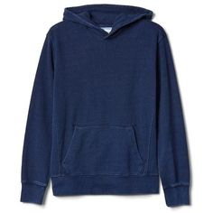 Gap Men Indigo Pullover Hoodie ($50) ❤ liked on Polyvore featuring men's fashion, men's clothing, men's hoodies, dark indigo, tall, mens hoodies, mens hooded sweatshirts, mens sweatshirts and hoodies, mens hoodie and mens tall hoodies