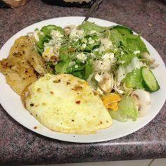 [Cheap] Lemon Pepper Basa & A Lot of Salad