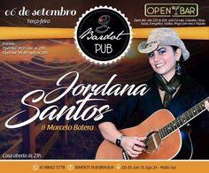 #VEJA Bardot Pub: Jordana Santos e Marcelo Batera #agenda @paroutudo via ParouTudo http://ift.tt/2c4oJOe #Raynniere #Makepeace