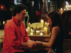 "5. The Monica and Chandler proposal. | 13 Moments On ""Friends"" That Made You Cry. Episode: ""The One with the Proposal"" Season: 6 An emotionally overwhelmed Monica gets down on her knees and proposes to Chandler, in one of the most romantic scenes of the entire series."
