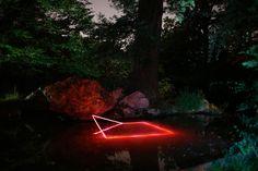 Geometric Light Installations by Nicolas Rivals Bathe the Spanish Countryside in Red La Linea Roja