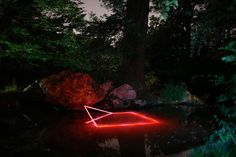 Geometric Light Installations by Nicolas Rivals Bathe the Spanish Countryside in Red La Linea Roja
