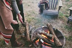 The smell of fall and campfire.