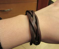 Brown Color Leather Bundle Design Band Bracelet with For Men Unique Gifts, Gift Ideas, Band, Brown, Bracelets, Leather, Color, Design, Sash