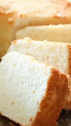 The Best Angel Food Cake ~ This cake has the most perfect texture and flavor... Once you make this, it will become your new favorite!
