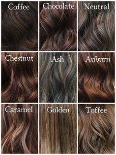 Shades of Brunette @milenashairdesign #hairinspiration #chocolatehair #coffeehai ...