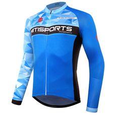 2018 Men s Cycling Jerseys Winter Pro Team Cycling Clothing Long Sleeve  Bicycle Shirt MTB Motocross Jersey Wear Blue Sport Cloth. da0cfd7be