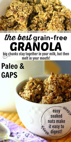 Best Grain-free Granola~ my favorite! {high in selenium and protein} Paleo with GAPS variation #paleogranola #brazilnuts #gapsdietgranola