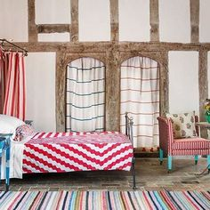 Gaboushk And Florence Rolfe Bring Freshness To A Timber Framed Inn With Crisp Linens Accents Of Bold Colour On P115 The House We Shot In Is