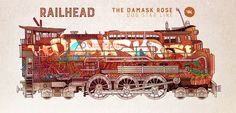 Philip Reeve's Railhead. Will Kirkby's design for the Damask Rose