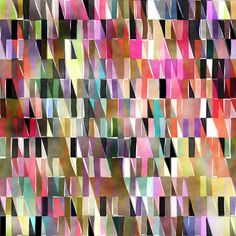 Watercolor Triangles fabric by joanmclemore on Spoonflower