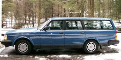 1986 240 Volvo Wagon. Ours was yellow. This car was solid. Not the most fun to drive, but I really liked it.